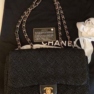 CHANEL Bags - Chanel single flap medium limited edition black